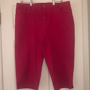 Hot pink Kim Rogers Capris - Size 16